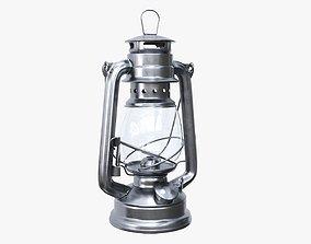 Old kerosene metal lamp 03 3D model
