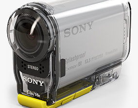 3D model Sony HDR-AS100V with Case
