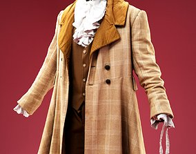 3D model Charles Dickens Costume