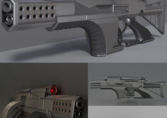 Futuristic weapon concept