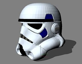 stormtrooper mask Natural size helmet 3D print model