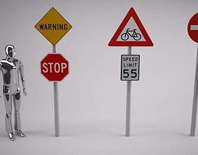 3D Road Signs with place holders