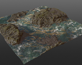 Cliff Seaside PBR 3D