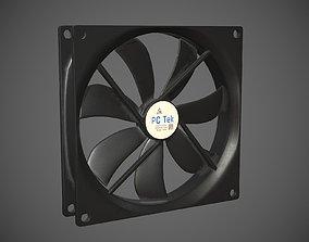 PC system fan PBR 3D model