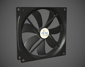 PC system fan PBR 3D