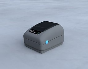 3D asset Zebra Small Label Printer