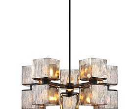 3D model Crate and Barrel - Ava Large Chandelier