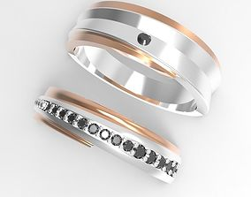 Two colors engagement ring 3D printable model