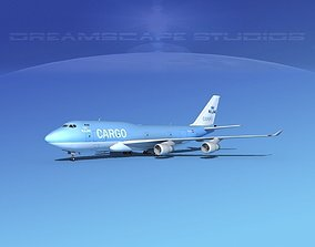 3D Boeing 747-400 KLM Cargo