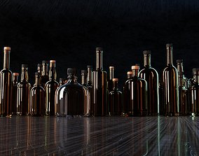 3D model Liquor Glass Bottles