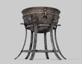 Iron Brazier 3D asset