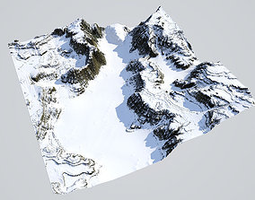 3D Detailed Canyon Model - Snow