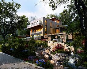 building 3D model villa 047