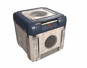 3D model Sci Fi cargo crate PBR