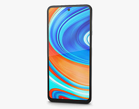 3D model Xiaomi Redmi Note 9 Pro Glacier White cellular