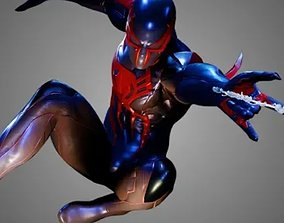 Spiderman 2099 3D model animated