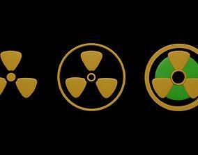 Symbols radiation 1 3D