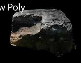 3D model Photogrammetry Rock 2 VR AR Ready