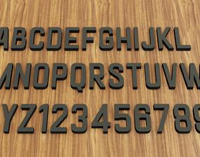 Goldana Font 3D print model