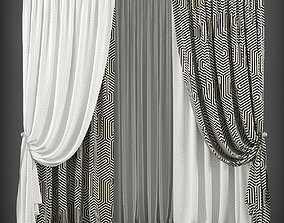 Curtain 3D model 143 low-poly