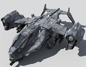 3D dropship SF Heavy Military Dropship