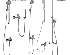 Bathroom mixer set Ravak set 10 3D model