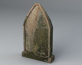 3D asset realtime Gravestone 8 Low Poly