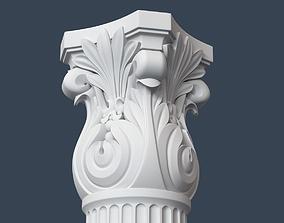 Corinthian Column 008 3D model