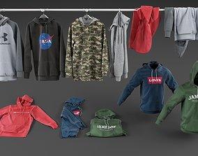 Hoodie collection 3D model hoody
