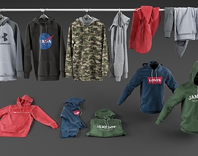 Hoodie collection 3D model