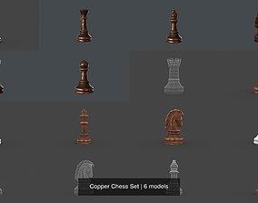 Copper Chess Set 3D
