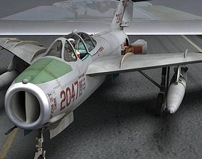 3D MiG-17 Fresco F for obj and fbx
