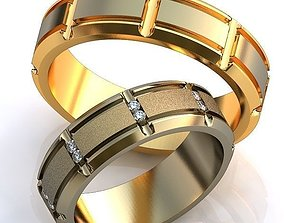 Gold Metal Rings wedding fashion-and-beauty 3D