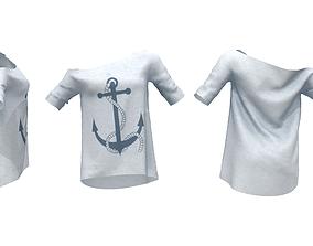 Ladies Jersey Off Shoulder Sweater 3D asset