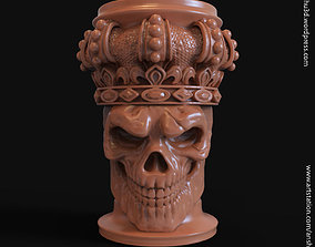 King skull with crown vol1 pen holder 3D print model