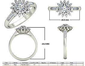 Jewelry 3D CAD ring STL Files-VJR119