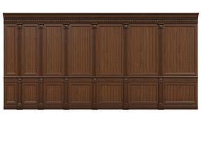 3D asset VR / AR ready Threaded wood panels 014