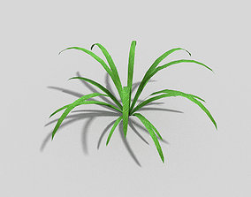 3D model realtime Low poly Plant