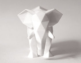3D printable model Lowpoly Elephant Sculpture