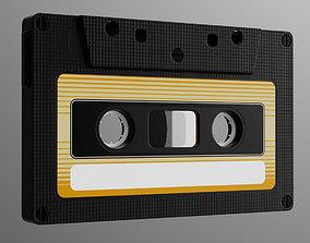 Analog Cassette Audio Tape 3D model
