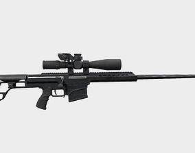 Sniper Rifle Barret 3D PBR
