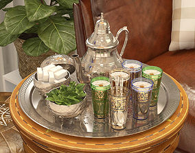 3D model Moroccan Tea Set