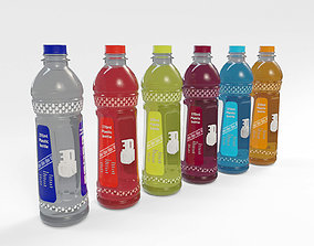 370ml Plastic Drink Bottle with 5 flavoured 3D model