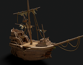 Ship 20k PBR Unreal PKG 1x1 pixel 3D model