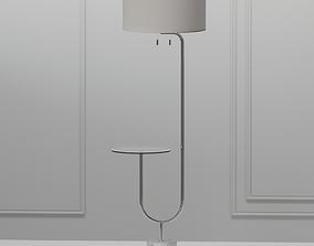 3D model Adesso Sloan Nickel Floor Lamp