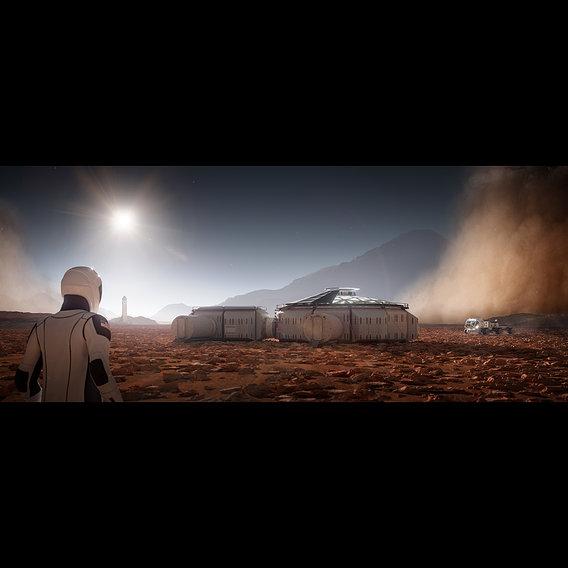 Martian colony base