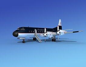 Lockheed L-188 Electra HP Freedom Air 3D model