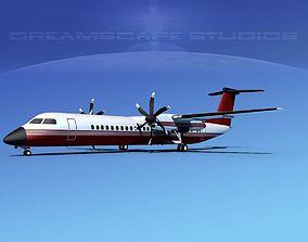 Dehaviland DHC-8 400 Corporate 3 3D