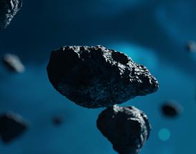 Meteorite asteroid comet rocks pack 3D model