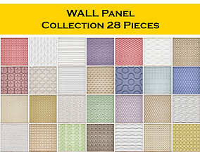 3D model WALL Panel Collection 28 Pieces